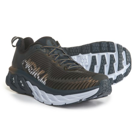 Hoka One One Arahi Running Shoes (For Men) in Midnight Navy/Metallic Gold
