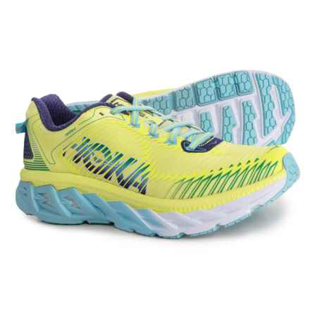 Hoka One One Arahi Running Shoes (For Women) in Sunny Lime/Blue Topaz - Closeouts