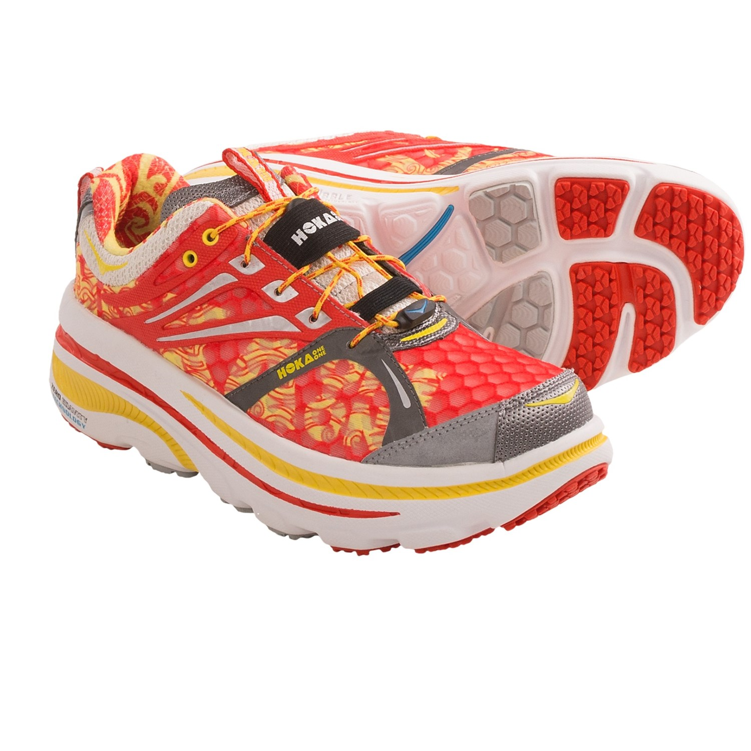 Running Shoes - Maximalist, Neutral Cushion (For Women) in Red/White