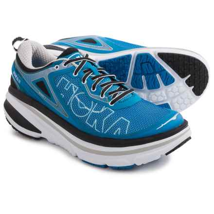 Hoka One One Bondi 4 Running Shoes (For Men) in Directoire Blue/White - Closeouts