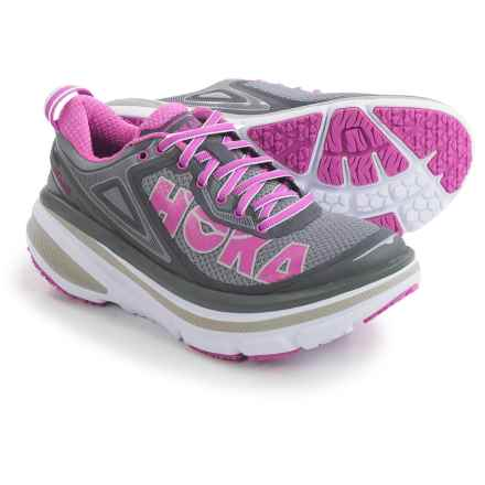 Hoka One One Bondi 4 Running Shoes (For Women) in Grey/Fuschia - Closeouts