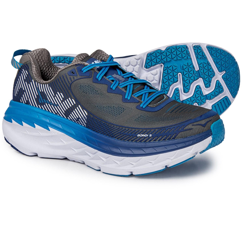 a4db6760d386 Hoka One One Bondi 5 Running Shoes (For Men) in Charcoal Grey True