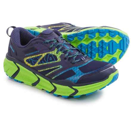 Hoka One One Challenger ATR 2 Trail Running Shoes (For Men) in Astral Aura/Neon Green - Closeouts