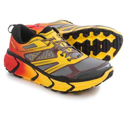 Hoka One One Challenger ATR 2 Trail Running Shoes (For Men) in Grey/Empire Yellow - Closeouts