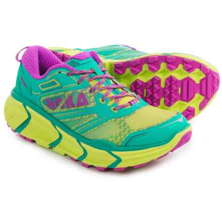 Hoka One One Challenger ATR 2 Trail Running Shoes (For Women) in Aqua/Fushia - Closeouts