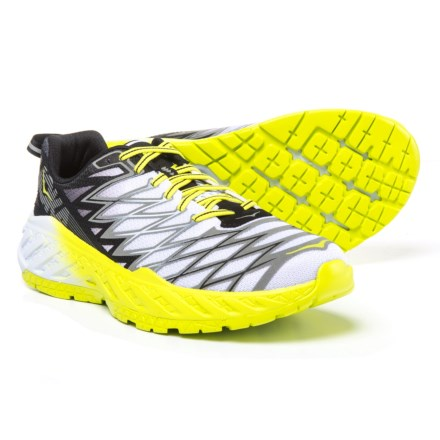 Hoka One One Clayton 2 Running Shoes (For Men) in Black White  aad38a06d