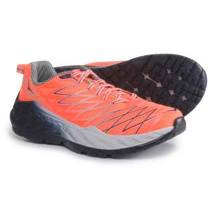 Hoka One One Clayton 2 Running Shoes (For Women) in Neon Coral/Nimbus Cloud - Closeouts