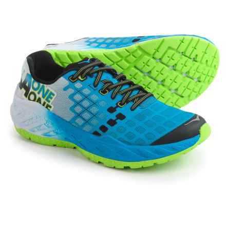 Hoka One One Clayton Running Shoes (For Men) in Bright Green / French Blue - Closeouts