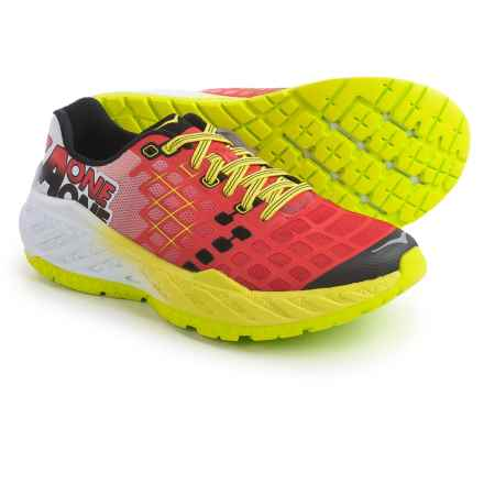 Hoka One One Clayton Running Shoes (For Men) in Poppy Red / Acid - Closeouts