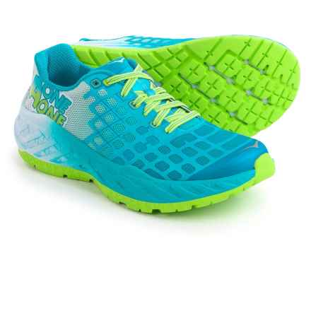 Hoka One One Clayton Running Shoes (For Women) in Bright Green / Blue Atoll - Closeouts