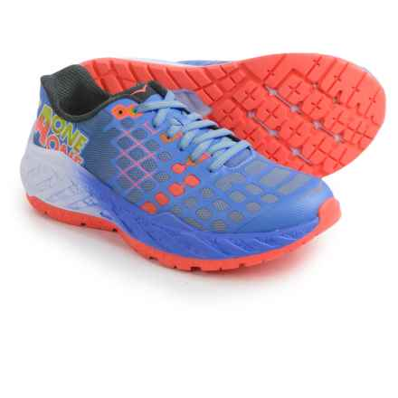 Hoka One One Clayton Running Shoes (For Women) in Ultramarine / Neon Coral - Closeouts