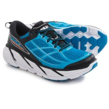 Hoka One One Clifton 2 Running Shoes (For Men) in Directoire Blue/Flame - Closeouts