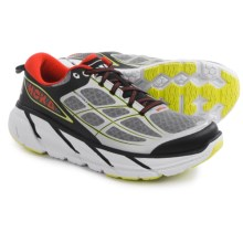 Hoka One One Clifton 2 Running Shoes (For Men) in Grey/Orange Flash - Closeouts