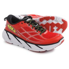 Hoka One One Clifton 2 Running Shoes (For Men) in Poppy Red/White - Closeouts