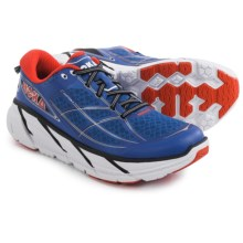 Hoka One One Clifton 2 Running Shoes (For Men) in True Blue/Orange Flash - Closeouts