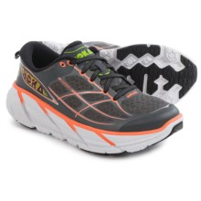 Hoka One One Clifton 2 Running Shoes (For Women) in Grey/Neon Coral - Closeouts