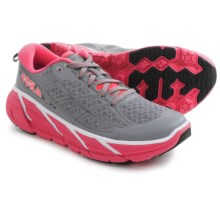 Hoka One One Clifton 2 Running Shoes (For Women) in Grey/Neon Pink - Closeouts