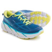 Hoka One One Clifton 2 Running Shoes (For Women) in True Blue/Sunny Lime - Closeouts