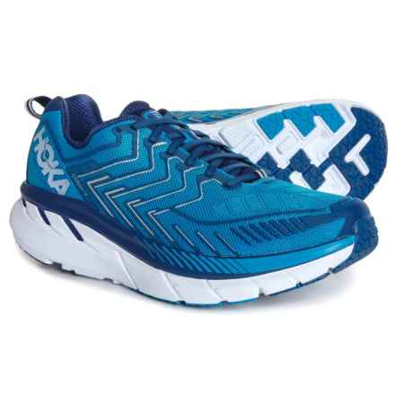 Hoka One One Clifton 4 Running Shoes (For Men) in Diva Blue/True Blue - Closeouts