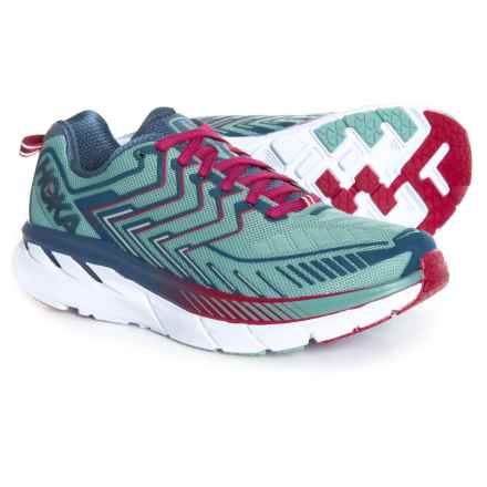 Hoka One One Clifton 4 Running Shoes (For Women) in Aquifer/Vintage Indigo - Closeouts