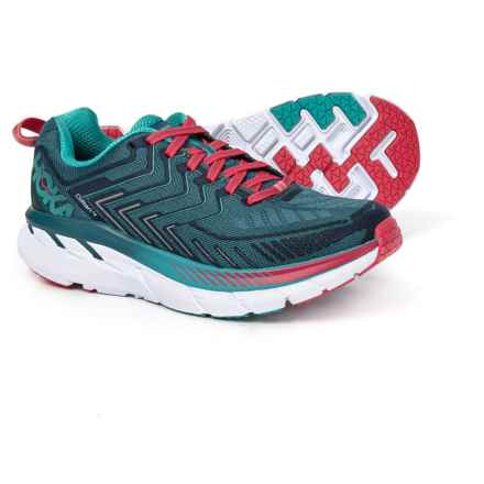 Hoka One One Clifton 4 Running Shoes (For Women) in Blue Coral/ Ceramic - Closeouts