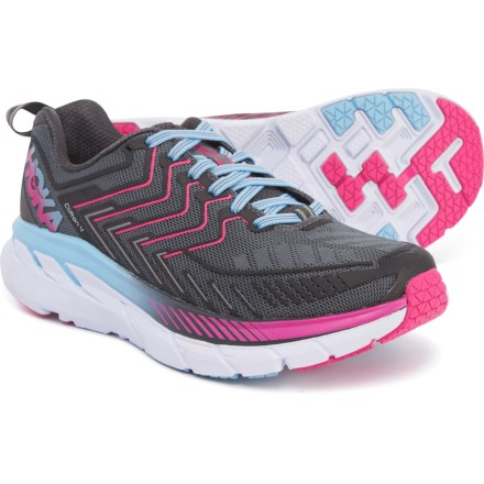 09e09e22a3ab Hoka One One Clifton 4 Running Shoes (For Women) in Castle Rock Asphalt
