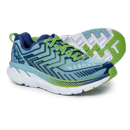 Hoka One One Clifton 4 Running Shoes (For Women) in Sky Blue/Surf The Web - Closeouts