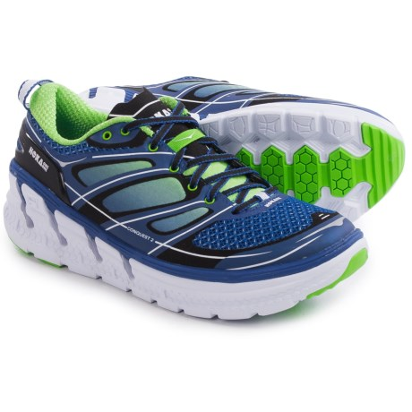 Hoka One One Conquest 2 Running Shoes (For Men) in Blue/Green Flash/White