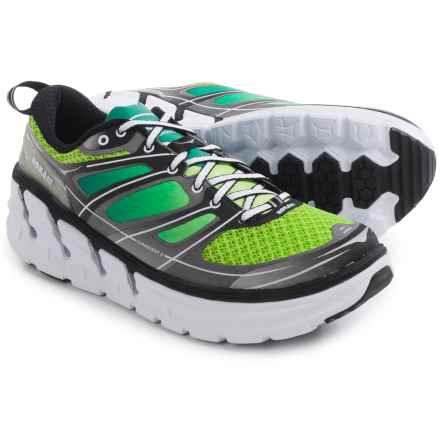 Hoka One One Conquest 2 Running Shoes (For Men) in Green Flash/Silver - Closeouts