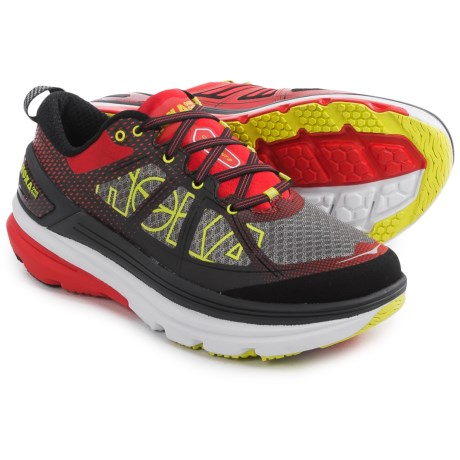 Hoka One One Constant 2 Running Shoes (For Men) in Grey/Poppy Red