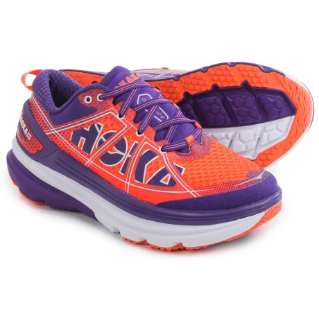 Hoka One One Constant 2 Running Shoes (For Women) in Neon Coral/Tillandsia Purple