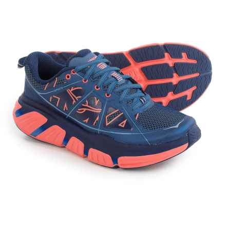 Hoka One One Infinite Running Shoes (For Women) in Costal Fjord/Neon Coral - Closeouts