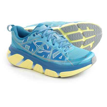 Hoka One One Infinite Running Shoes (For Women) in Sky Blue/Sunny Lime - Closeouts