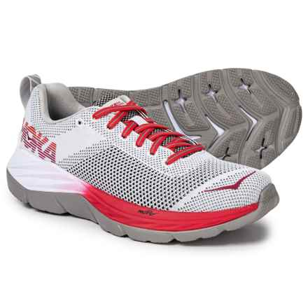 Hoka One One Mach Running Shoes (For Women) in White/Hibiscus - Closeouts