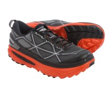 Hoka One One Mafate 4 Trail Running Shoes (For Men) in Grey/Flame - Closeouts