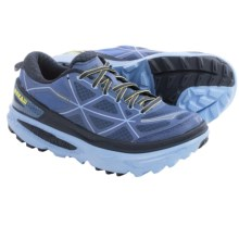 Hoka One One Mafate 4 Trail Running Shoes (For Women) in Coastal Fjord/Sunny Lime - Closeouts