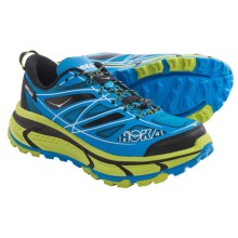 Hoka One One Mafate Speed Trail Running Shoes (For Men) in Cyan/Lime/Black - Closeouts