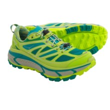 Hoka One One Mafate Speed Trail Running Shoes (For Women) in Acid/Aqua/Grey - Closeouts