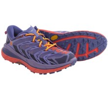 Hoka One One Speedgoat Trail Running Shoes (For Women) in Corsican Blue/Neon Coral - Closeouts