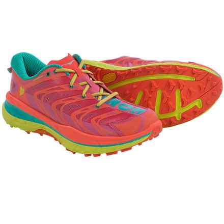 Hoka One One Speedgoat Trail Running Shoes (For Women) in Neon Coral/Aqua - Closeouts