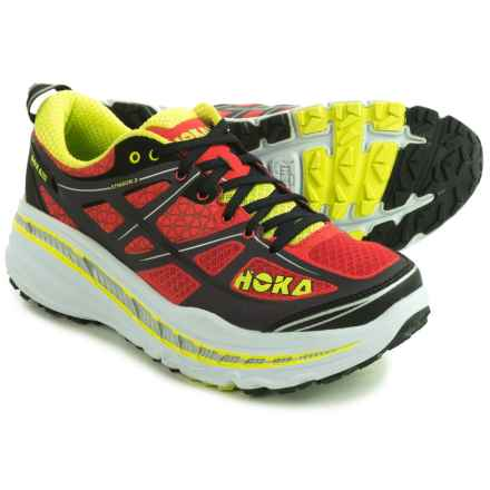 Hoka One One Stinson 3 ATR Trail Running Shoes (For Men) in Cayenne/Acid - Closeouts