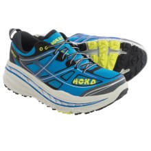 Hoka One One Stinson 3 ATR Trail Running Shoes (For Men) in Directorie Blue/Citrus - Closeouts