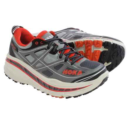 Hoka One One Stinson 3 ATR Trail Running Shoes (For Men) in Grey/Orange Flash - Closeouts