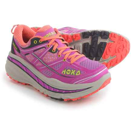 Hoka One One Stinson 3 ATR Trail Running Shoes (For Women) in Fushia/Fusion Coral - Closeouts