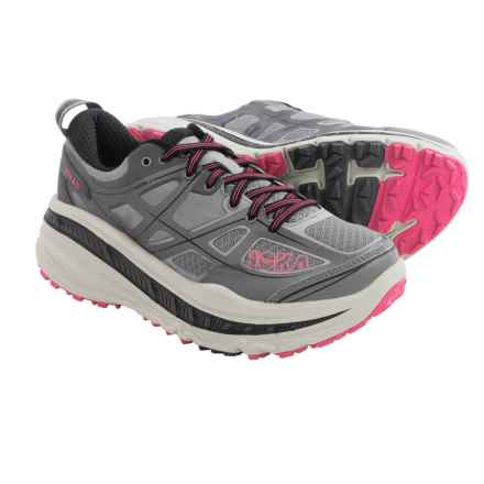 Hoka One One Stinson 3 ATR Trail Running Shoes (For Women) in Grey/Neon Pink - Closeouts