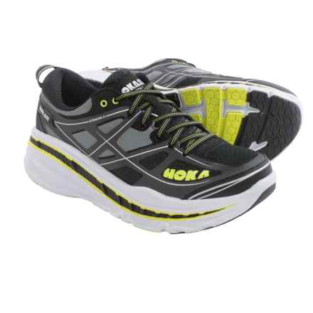 Hoka One One Stinson 3 Road Running Shoes (For Men) in Anthracite/Acid - Closeouts