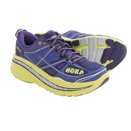 Hoka One One Stinson 3 Running Shoes (For Women) in Corsican Blue/Lime - Closeouts