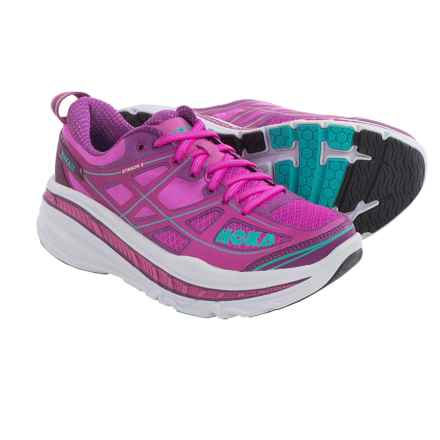 Hoka One One Stinson 3 Running Shoes (For Women) in Fushia/Purple - Closeouts
