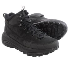 Hoka One One Tor Summit Mid Hiking Boots - Waterproof (For Men) in Black/Anthracite - Closeouts