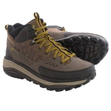 Hoka One One Tor Summit Mid Hiking Boots - Waterproof (For Men) in Brown/Golden Rod - Closeouts
